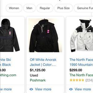 Offwhite black ski jacket !